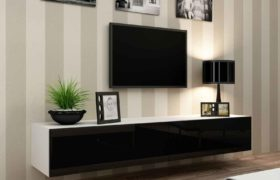 Mounting a shelf for TV and equipment3