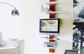 Mounting a shelf for TV and equipment5