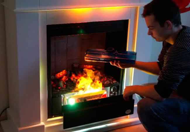 Repair of electric fireplaces